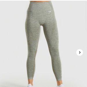 Gymshark Khaki Marl Vital Seamless Leggings Size L